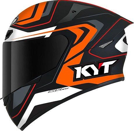 Capacete KYT TT Course Overtech Laranja/Preto