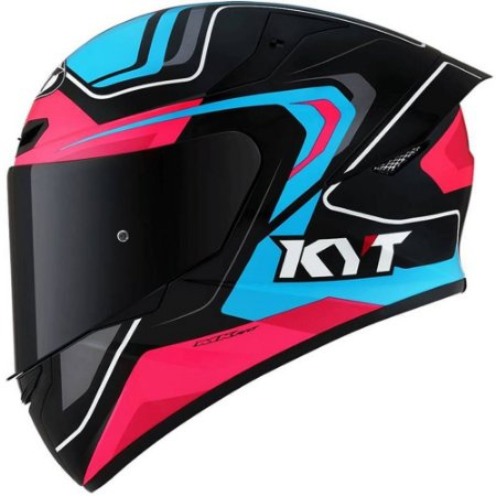 Capacete KYT TT Course Overtech Rosa/Preto