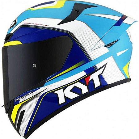 Capacete KYT TT Course Grand Prix Azul Claro
