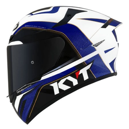 Capacete KYT TT Course Grand Prix Vermelho/Azul