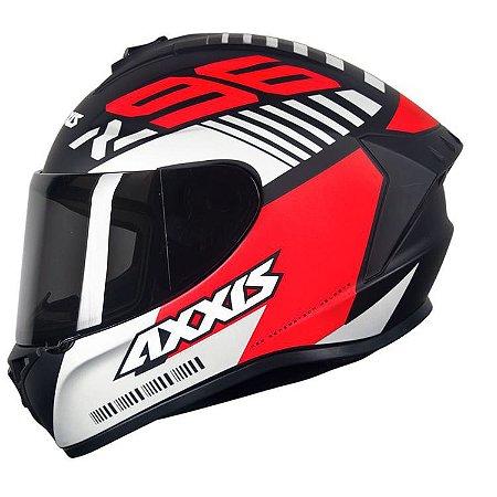 Capacete Axxis Draken Z96 Preto/Vermelho