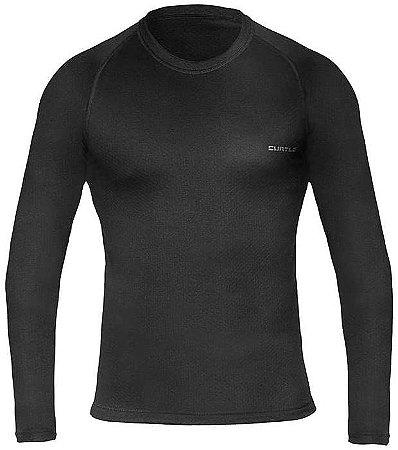 Segunda Pele Curtlo Camiseta Thermoskin Masculino Preto
