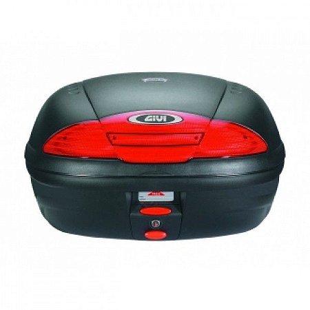 Baú Traseiro Top Case GIVI (E450N) Monolock Preto com Lente Vermelho 45L