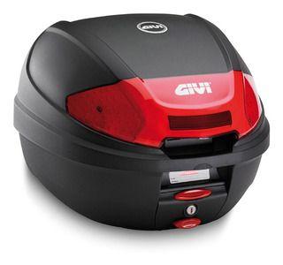Baú Traseiro Top Case GIVI (E300N2) Monolock Preto com Lente Vermelho 30L