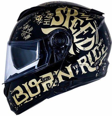 Capacete Norisk Force Born To Ride Dourado