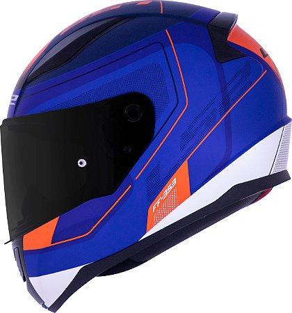 Capacete LS2 FF353 Rapid Slide Azul Fosco/Vermelho