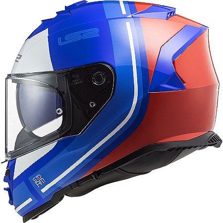 Capacete LS2 FF800 Storm Slant Azul/Vermelho