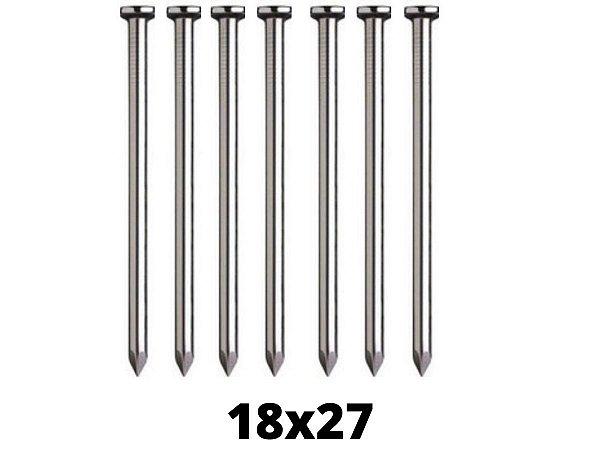 Prego de Aço 18x27 Com Cabeça - 10 Unidades