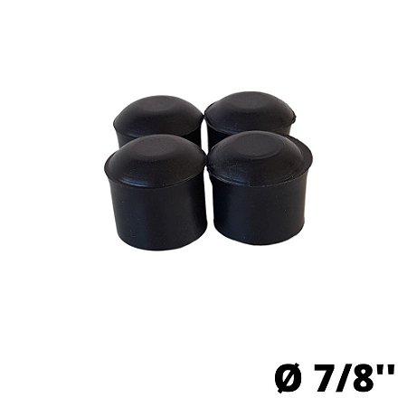 Ponteira PVC Preta 7/8'' - 4 Unidades