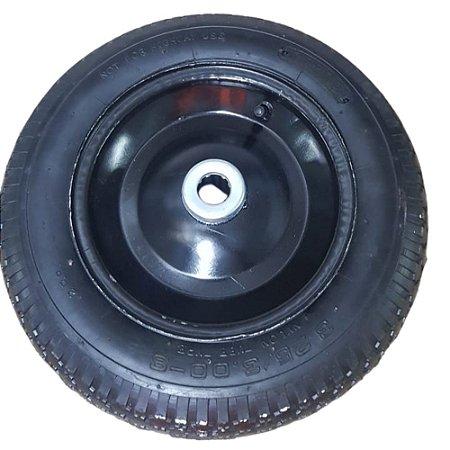Roda Pneumática de Carrinho de Carga Armazém 325x8'' rolamento de 1''