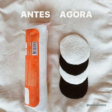 Eco Pads - discos de algodão reutilizáveis para limpeza facial - 4 pretos