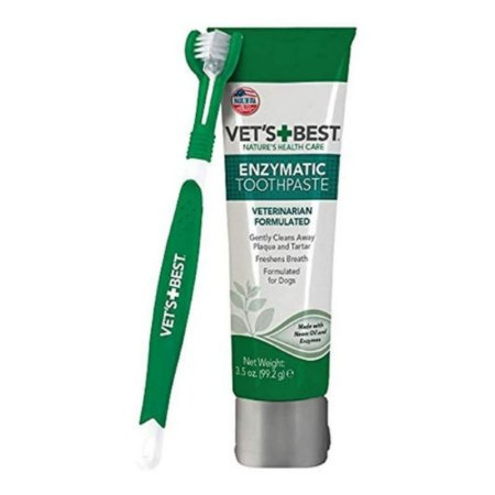 kit pasta de dente enzimática para cães vet's + best