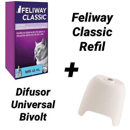 Kit Feliway Classic Ceva Refil 48 mL + Difusor Bivolt Compat