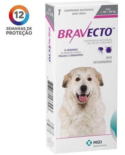 Antipulgas Bravecto Para Cães De 40 A 56 Kg
