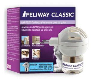 Feliway Classic Ceva Difusor Elétrico 110v + Refil 48 Ml