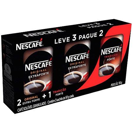 Café Solúvel Nescafé 2 Original + Tradicional Leve 3 Pague 2