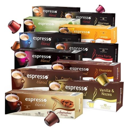 Kit 100 Cápsulas de Café Espresso Blend