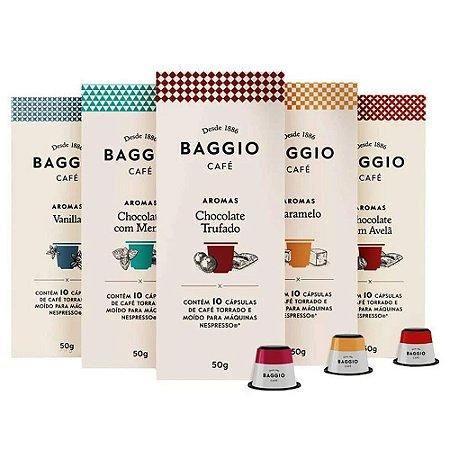 Kit 50 Cápsulas de Café Baggio Aromas
