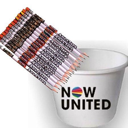 Lápis temático -50 uni + balde Temático 1 uni