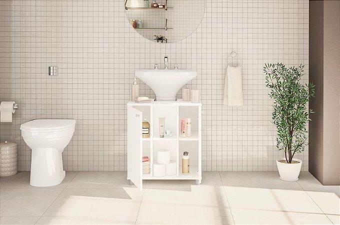 Balcão Banheiro 2 portas - Branco