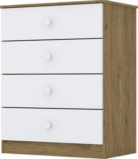 Cômoda Labirinto - Branco / Rústico