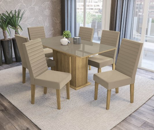 Conjunto de Mesa Acerola 06 Cadeiras A016 - Kappesberg
