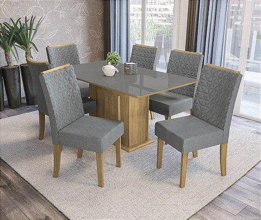 Conjunto de Mesa Acerola 06 Cadeiras