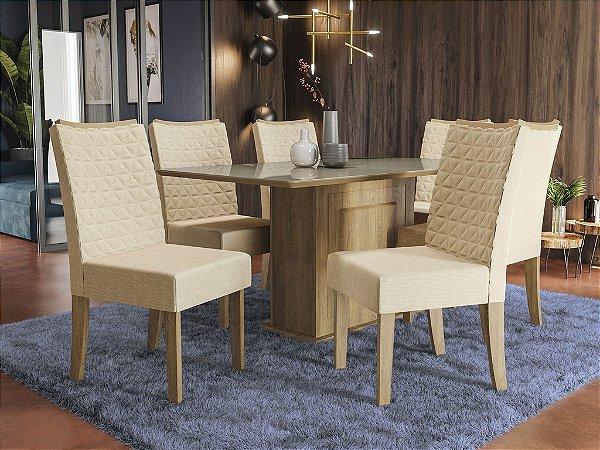 Conjunto de Mesa Acerola 06 Cadeiras A019 - Kappesberg