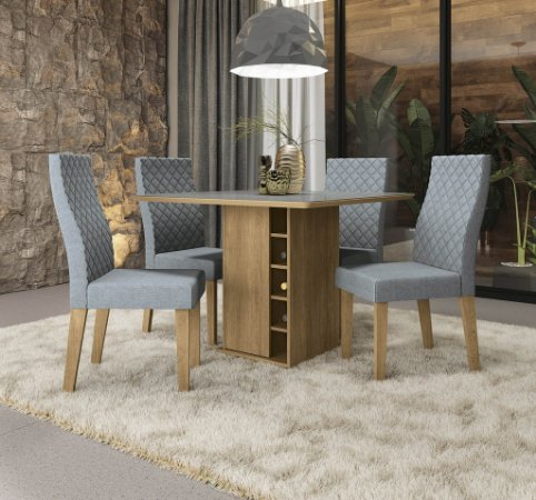 Conjunto de Mesa Camélia 04 Cadeiras A018 - Kappesberg