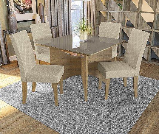 Conjunto de Mesa Camomila 4 Cadeiras A021 - Kappesberg