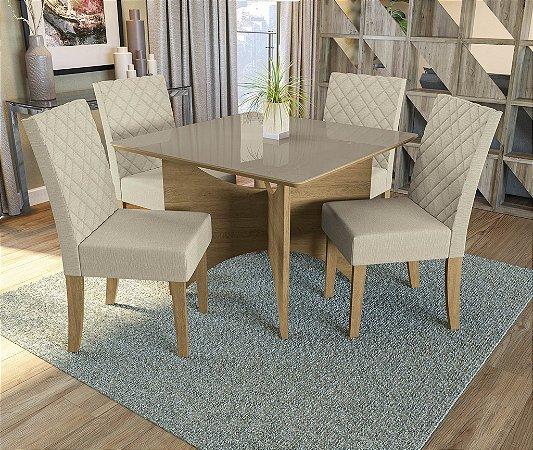 Conjunto de Mesa Camomila 4 Cadeiras