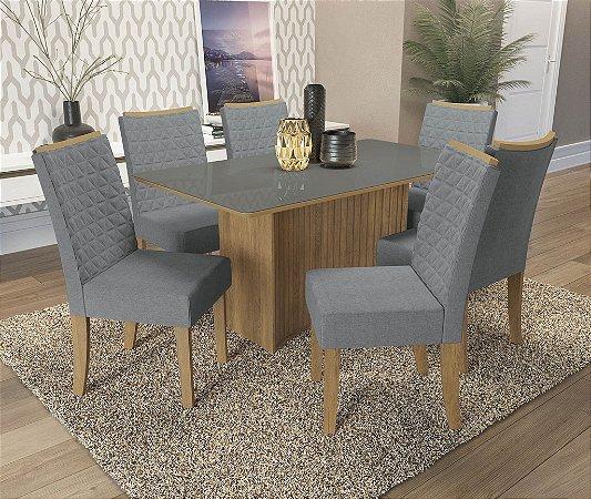 Conjunto de Mesa Cidra 06 Cadeiras A018 - Kappesberg