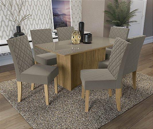 Conjunto de Mesa Cidra 06 Cadeiras A016 - Kappesberg
