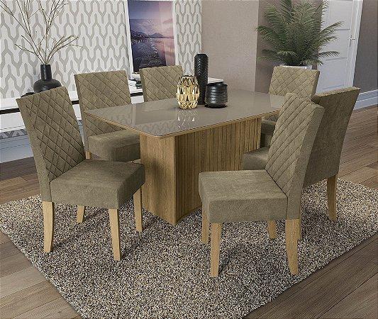 Conjunto de Mesa Cidra 06 Cadeiras D005 - Kappesberg