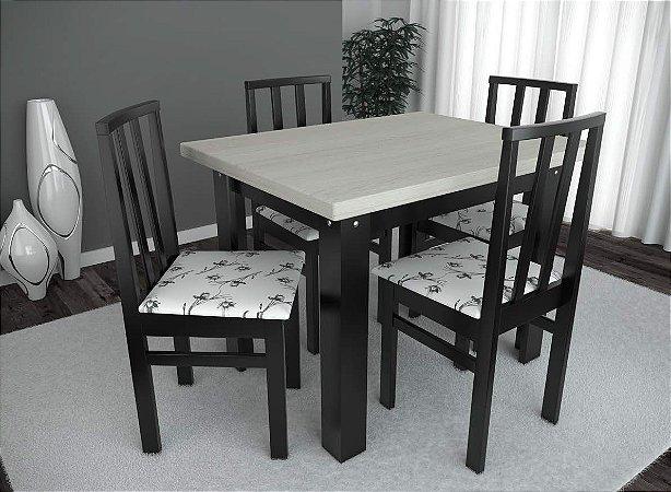 Conjunto de Mesa Classic 04 Cadeiras Brasil