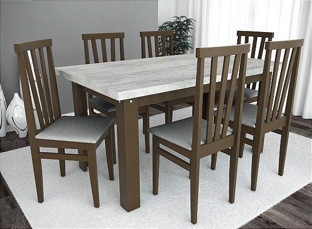 Conjunto de Mesa Classic 06 Cadeiras Life