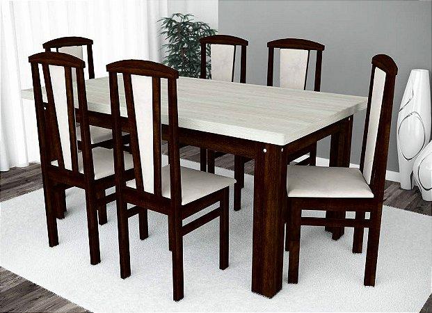 Conjunto de Mesa Classic e 06 Cadeiras Benny