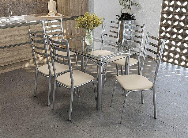 Conjunto de Mesa Elba 06 Cadeiras Alemanha - CR16