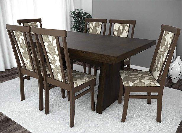 Conjunto de Mesa Gourmet 06 Cadeiras Madri