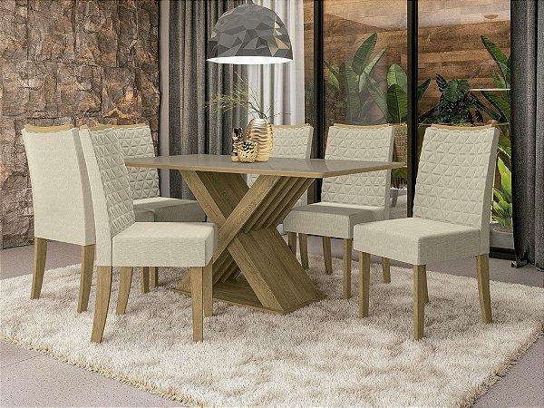 Conjunto de Mesa Graviola 6 Cadeiras A019 - Kappesberg