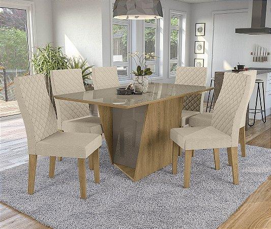Conjunto de Mesa Jasmim 06 Cadeiras A019 - Kappesberg
