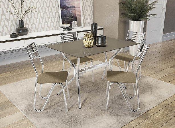 Conjunto de Mesa Loire 04 Cadeiras Nápoles - CR31