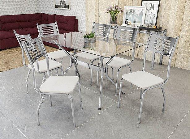 Conjunto de Mesa Loire 06 Cadeiras Munique - CR106