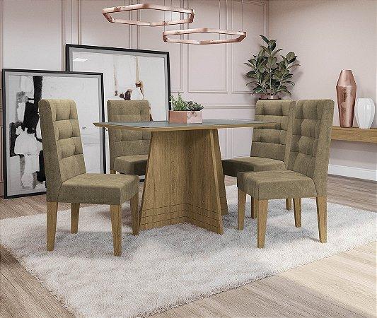 Conjunto de Mesa Lótus 4 Cadeiras D005 - Kappesberg