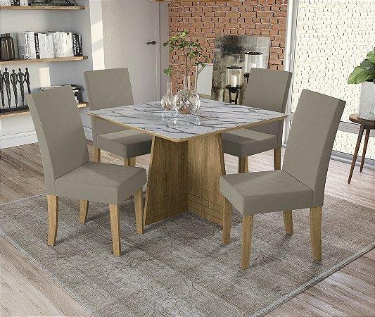Conjunto de Mesa Lótus 4 Cadeiras