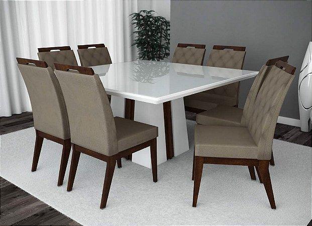 Conjunto de Mesa Madri 08 Cadeiras Valencia