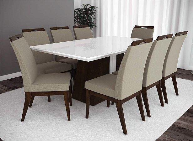Conjunto de Mesa Madri 08 Cadeiras Valência