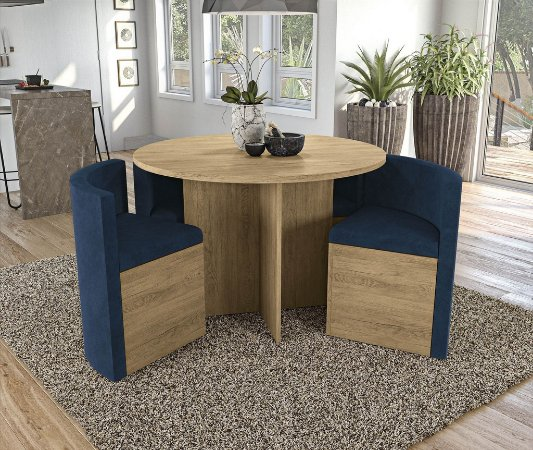 Conjunto de Mesa Nirá 4 Cadeiras