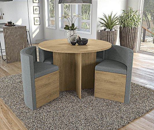 Conjunto de Mesa Nirá 4 Cadeiras A018 - Kappesberg