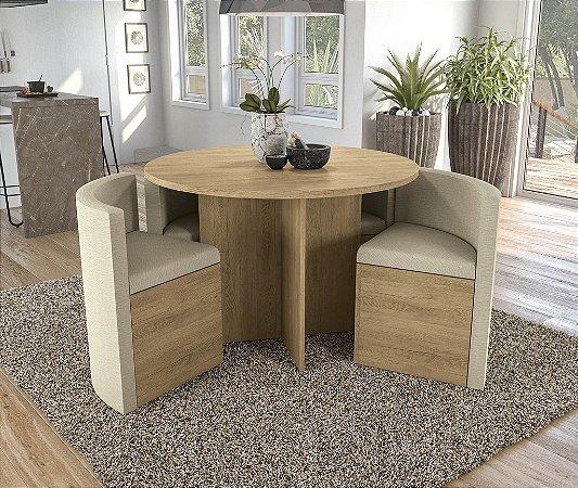 Conjunto de Mesa Nirá 4 Cadeiras A019 - Kappesberg